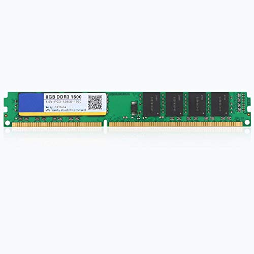 8G RAM de Escritorio, DDR3 portátil 1600 Frecuencia 8G 240pin RAM de Memoria de Escritorio, 1600MHz RAM de Memoria de Alta Velocidad Totalmente Compatible para Intel/AMD