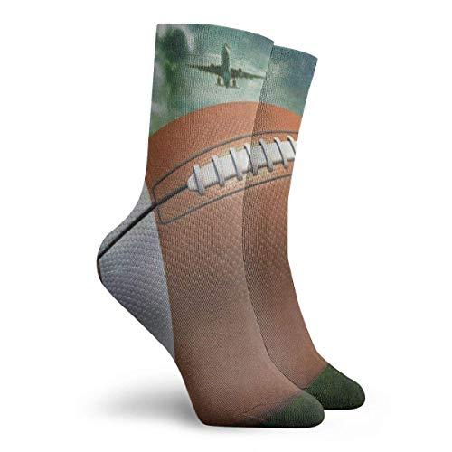Gingerbread Man Family Love Mid-Calf Socks Graduated Football Socks Athletic Tube Stockings