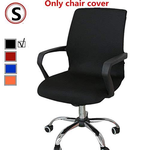 Funda para silla de oficina, repuesto universal para silla giratoria con reposabrazos, extraible, ajustable, negro, Small