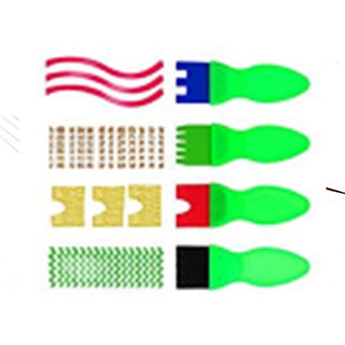 Paquete de 4 cepillos para niños, esponja EVA, sello de esponja, para pintar, para niños, manualidades, herramientas de dibujo, suministros de arte