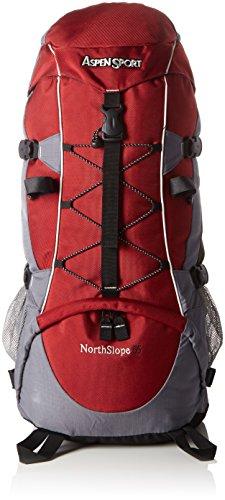 AspenSport Unisex – Erwachsene Rucksack North Slope, rot/Grau, 70 x 30 x 30 cm, 55 Liter