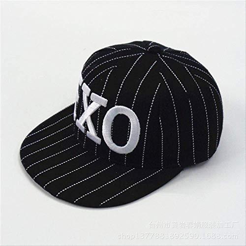 qqyz Eltern-Kind-Hut Hut Hut Hut Kappe Europäische Und Amerikanische Mode-persönlichkeit Flach Entlang Der Hut Kinder EXO Black