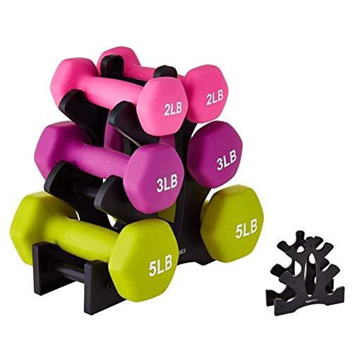 ASDFG Accesorios de gimnasio equipo de deportes mancuernas soporte gimnasio mancuernas rack equipo accesorios