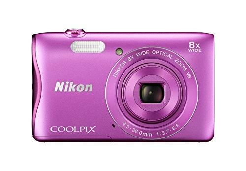 Nikon Coolpix S3700 Digitalkamera (20 Megapixel, 8-fach opt. Zoom, 6,7 cm (2,6 Zoll) Display, Wi-Fi, NFC, Panorama-Assistent) pink