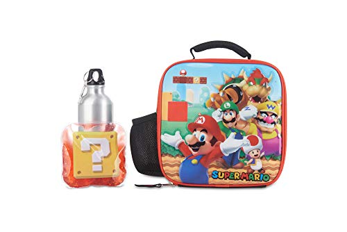 Super Mario Brother's Lunch Box Set for Boys & Girls