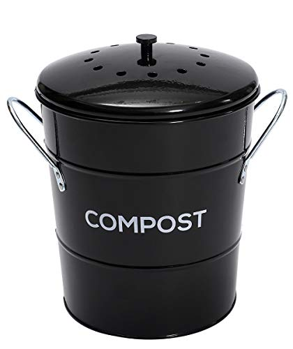 Great Features Of ayacatz 2-in-1 Indoor Kitchen Compost Bin, Great for Food Scraps, 1 Gallon, Remova...