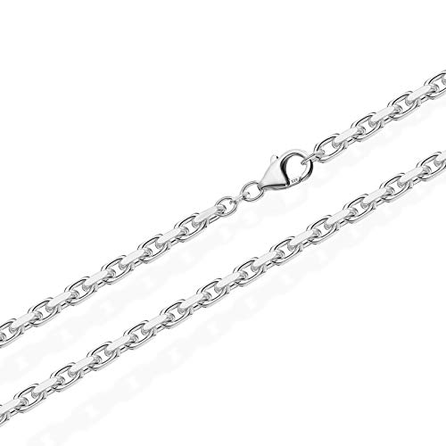 NKlaus 55cm Massive Ankerkette Collier 925 Silberkette Diamantiert 3,00mm breit 8960