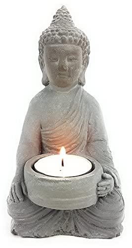 Buddha Decorative Set Tea Light Holder Zen Statue Meditation Mindfulness (Buddha-1)