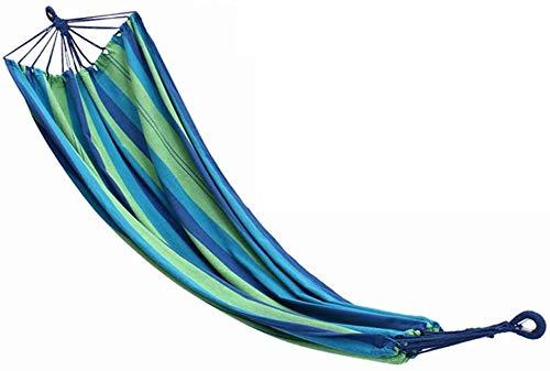 MCE Hamaca de acampada con columpio ligero para paracaídas con cuerdas para árboles, para viajes, playa, patio trasero (color: azul, tamaño: 200 cm x 100 cm)