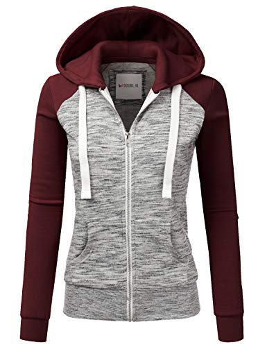 Machine Wash Cold / Do Not Bleach / Dry low Premium Casual Hoodie, We are used high quality color & fabric an essential closet staple // Features Draswring 3-Color Block Zip-Up Long Sleeves Hoodie with Plus Size Women's Premium Cotton Hoodie is Wear ...