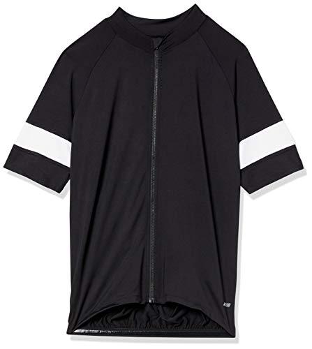 Amazon Essentials Camiseta de Ciclismo de Manga Corta Camisa, Negro, S