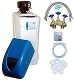 WTS AKE 60 - Descalcificador de agua con paquete de instalación para 2-8 personas, descalcificador controlado por cantidad elimina de forma fiable la cal del agua, control BNT 1650F