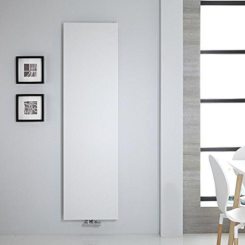 Hudson Reed Rubi Radiador de Diseño Moderno - Acabado Blanco - Diseño de Placa Radiante - 1800 x 500 mm - 1123W - Calefacción de Lujo