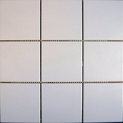 Keramikmosaik Manhattan rauh, hellgrau matt R10/B ca. 10x10x0,65cm, 1Tafel Mosako