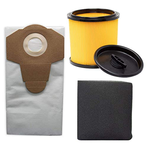 Juego de bolsas de filtro para aspiradora en seco y húmedo...