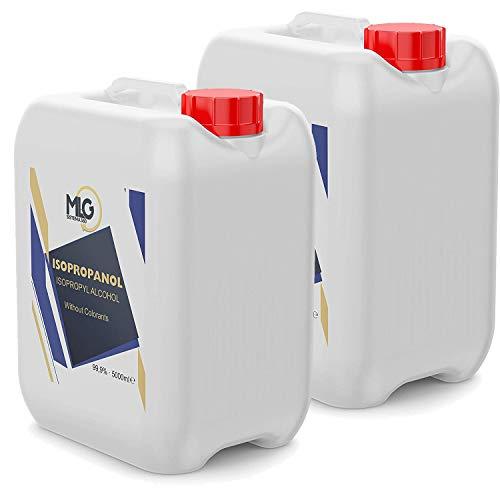 2 flaconi di alcool isopropilico 99,9% da 5 litri | IPA di pulizia | Ideale per la pulizia di componenti elettronici | 5000 ml
