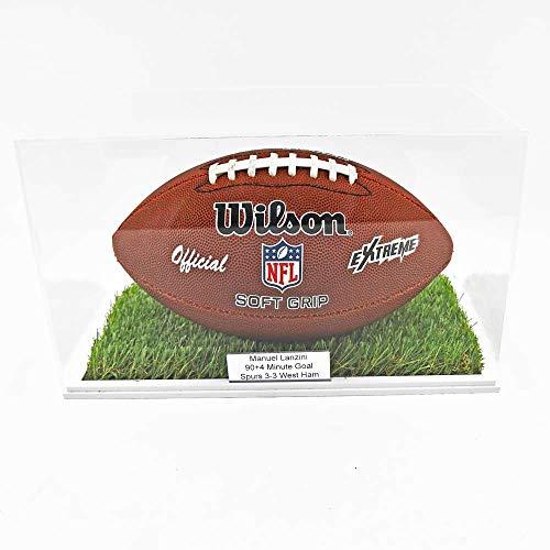 Puffin Plastics American Football Vitrine – Basis mit Gras-Effekt