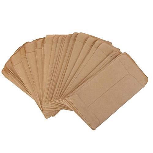 100Pcs Brown Kraft Papiertüten Schutz Samen Verpackung Beutel Vertikal Umschlag-Art-Isolation Seed Taschen