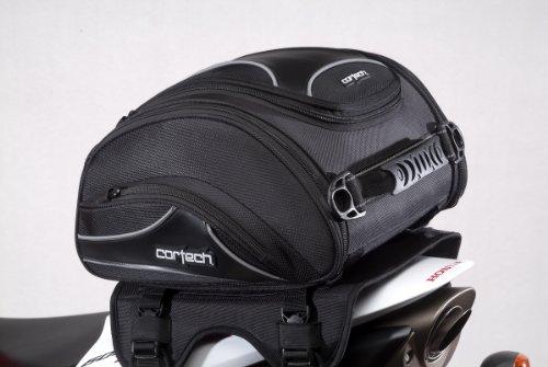 Cortech Super 2.0 24-Liter Motorcycle Tail Bag - Black / 13.4' L x 14.2' W x 7.5' D