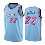 Camiseta Jimmy Butler Jersey, Temporada 2020 Y 2021 Miami Heat # 22 Camisetas De Baloncesto para Hombre, Camiseta De Entrenamiento De Limpieza Repetible para Hombre, D-XXL