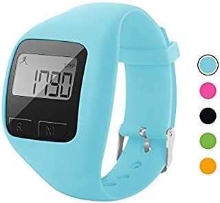 BATAUU Fitness Tracker, 3D Digital Watch Pedometer for Walking & Running, Simply Operation, Accurate Step Counter,Walking Distance Miles & Km, Calorie Counter, Activity Time (Blue)