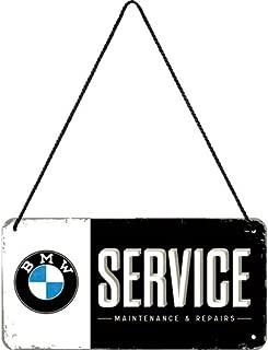 Nostalgic-Art BMW Service tin Sign, Hanging Sign, doorplate, 28001, Including Cord, 10 cmx 20cm.