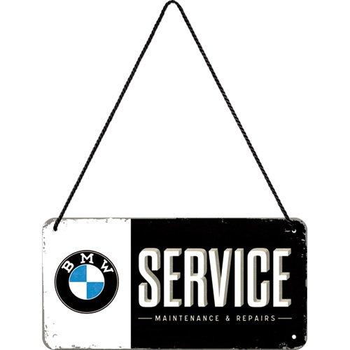 Nostalgic-Art 28001, BMW Service, 10x20 cm Hängeschild, Metall, bunt, 10 x 20 x 0.2 cm