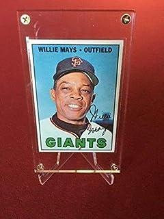 """1967, Willie Mays,""""Topps"""" Baseball Card - Slabbed Baseball Cards"""
