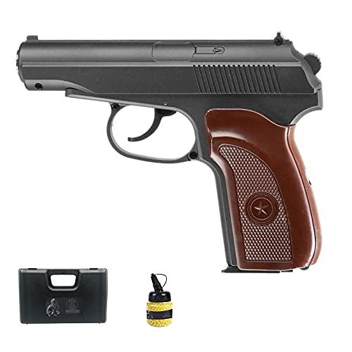 Pistola Galaxy G29 Metal (Muelle) | Pistola de Airsoft (Bolas de plástico 6mm) Tipo Makarov + maletín de PVC + biberón de munición