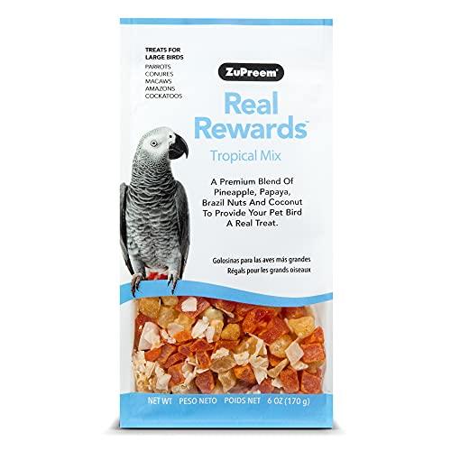ZuPreem - Alimento para Aves Real Rewards Tropical Mix   Snacks para Loros de Mediano y Gran tamaño - 170 g