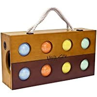 Viva Sol Premium Resin Bocce Ball Set with Wooden Case
