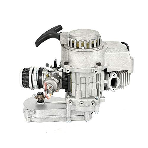 49CC 2-Takt Pocket Bike Getriebe Vergaser Set Motor Aluminum Minimotor Motor mit Vergaser Getriebe
