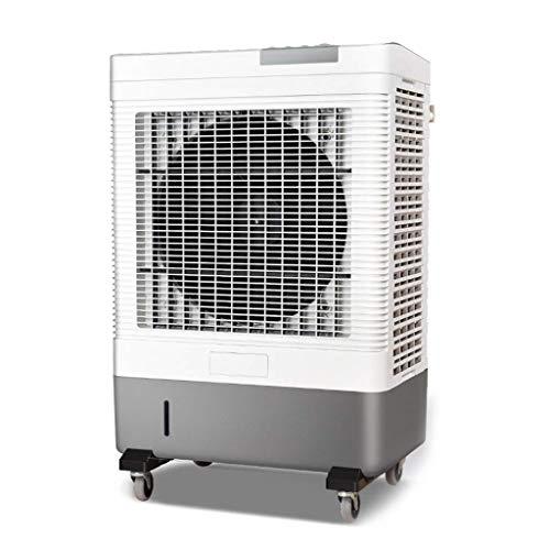 Ventiladores de la torre Ventilador de refrigeración comercial Fan de enfriamiento industrial Ventilador de refrigeración móvil grande de un solo agua Fan de refrigeración Fan del edificio (Color: Gri