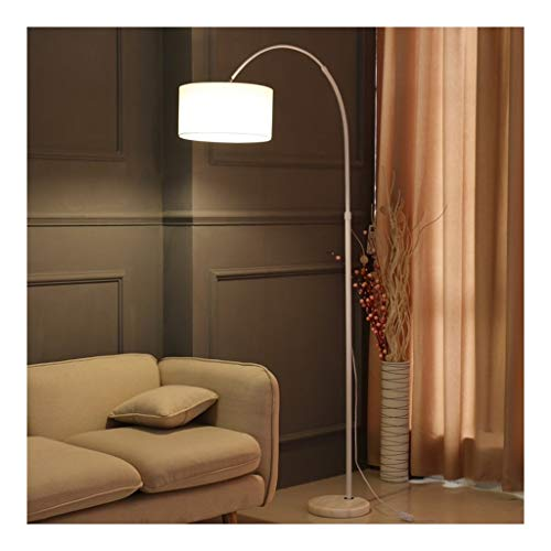 Floor Lamp-LED Arc Floor Light met Doek lampenkap-Living Room Verlichting Lamp for achter de bank-Slaapkamer Nachtlampjes Leeslamp DZE (Color : White, Size : White light)