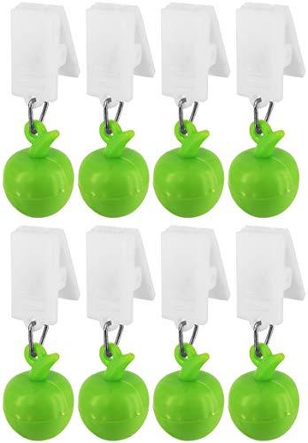 My-goodbuy24 Tischdeckenbeschwerer mit Klammer - 8er Set Apfel - Tischdeckenhalter Garten Tischdeckenklammern Tischtuch Clips - Kunststoff