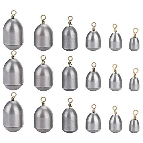 N\A 18pcs Fishing Sinkers Iron Weight Fish Casting Tool Set Tear Drop Style Sinkers Angler Tackle Accessory