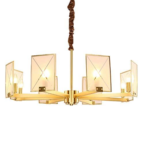 NARUJUBU De lujo de estilo europeo moderno araña de cristal dormitorio lámpara del salón Luces restaurante de la lámpara lámpara de estudio