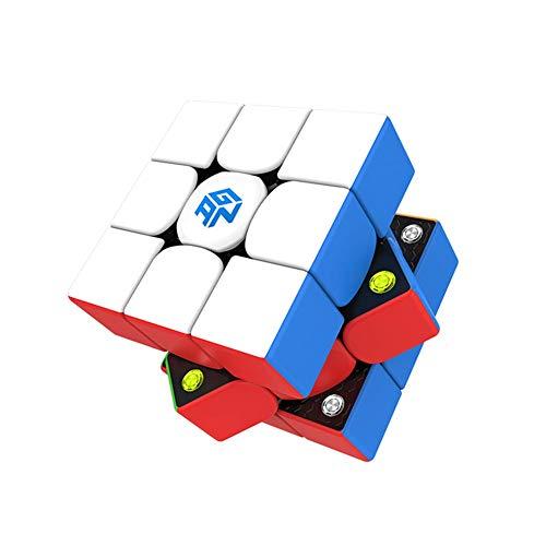 YING GAN 356i 3x3 Speed Cube de Tercer Orden APLICACIÓN Inteligente Conexión Bluetooth, reconocimiento de Estado, restauración en Tiempo Real Cubos de Competencia en línea,Blanco