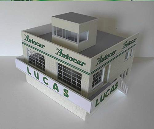 Greenhills Scalextric Slot Car Building Kit 1950's Goodwood Clubhouse 1:32 Scale MACC827