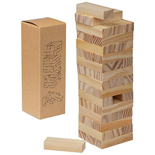 Wackelturm-Spiel / 54teilig / aus Holz