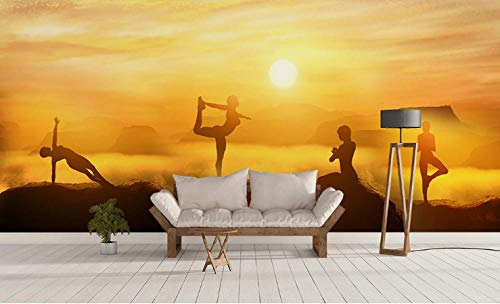 Photo Wallpaper Nature Yoga Health Background Wall Large Wall Mural Series Wallpaper for Living Room Wall Art Wall Decor Home Decor-177.2X118.1Inch
