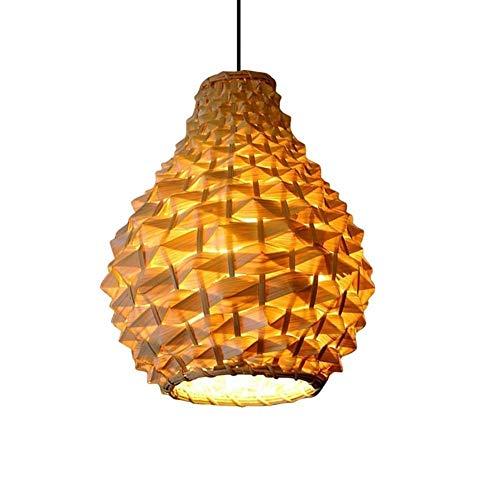 Lámparas de araña de mimbre de bambú Lámpara de techo Sombra de ratán Bailarina Sombra Accesorio colgante Asiático Japonés Art Deco Colgante Lustre Lámparas de diseño (17.521 pulgadas)