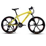 SOAR Bicicleta de montaña Bicicletas de montaña for Adultos Bici del Camino de MTB Bicicletas for Hombres y Mujeres de 26 Pulgadas Ruedas Ajustables Velocidad Doble Freno de Disco