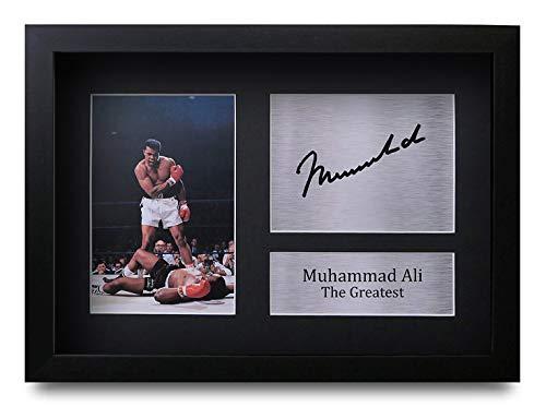 HWC Trading Muhammad Ali A4 Gerahmte Signiert Gedruckt Autogramme Bild Druck-Fotoanzeige Geschenk Für Boxfans