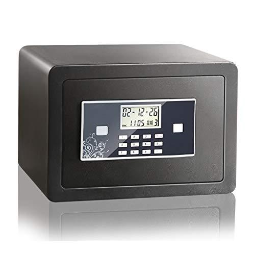 Casseforti Schermo LCD sicuro Installazione fissa sicura elettronica Nero 35 * 25 * 25 cm Safe