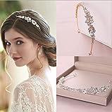 Simsly Diadema de cristal para novia, corona de novia, accesorio para el pelo, para mujeres y niñas