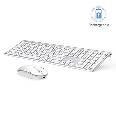 bluetooth keyboard mouse combo white