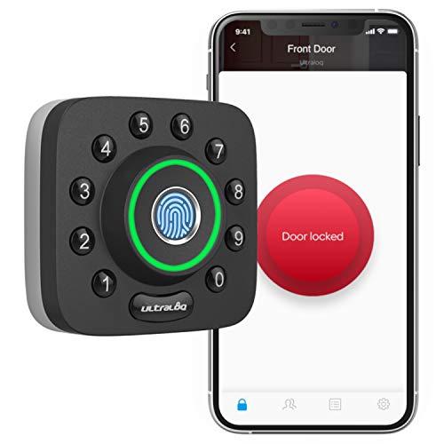 ULTRALOQ U-Bolt Pro Smart Lock, 6-in-1 Keyless Entry Door Lock with Bluetooth, Biometric Fingerprint and Keypad, Smart Door Lock Front Door, Deadbolt Lock Edition