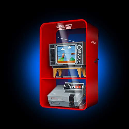 Likecom cryl Schaukasten Vitrine, Perspex Staubbeweis Show Fall Base für Lego Nintendo Entertainment System 71374 (kein Lego Kit) - Rot