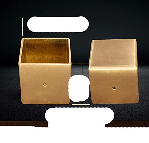 1 pieza Patas cuadradas de latón para muebles, no ajustable, sofá, escritorio, mesa, gabinete, pies, cubierta, silla, taza, protector, accesorios para muebles-HD-0974-1 PC